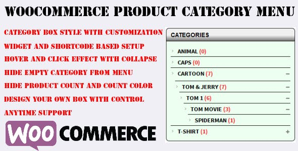 Woocommerce Category Accordion Plugin