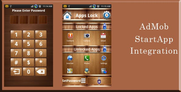 App Locker - AdMob and StartApp Integrated