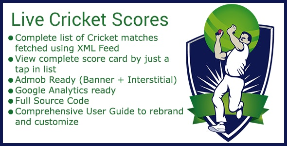 Live Cricket Score Android App - CodeCanyon Item for Sale