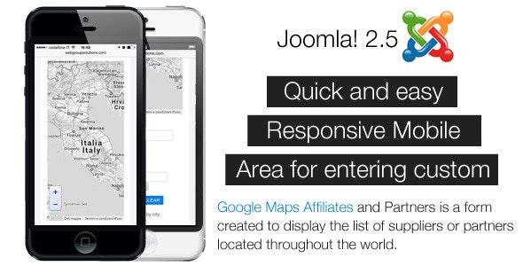 Component Joomla! Google Maps Affiliates - CodeCanyon Item for Sale