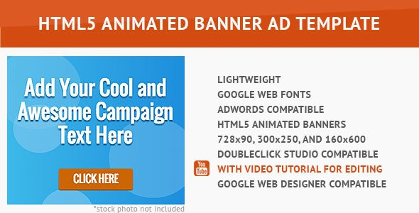Cool Advertising HTML5 Animated Banner - CodeCanyon Item for Sale