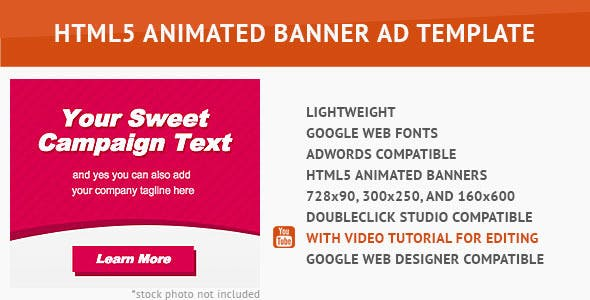 Sweet HTML5 Animated Banner