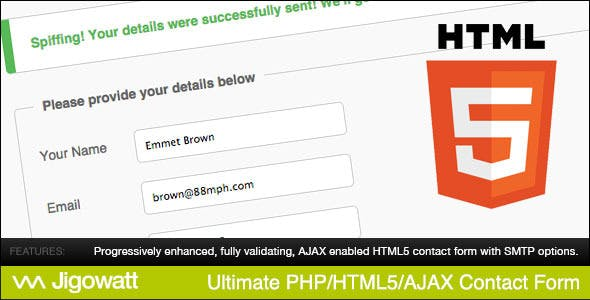 Ultimate PHP, HTML5 & AJAX Contact Form        Nulled