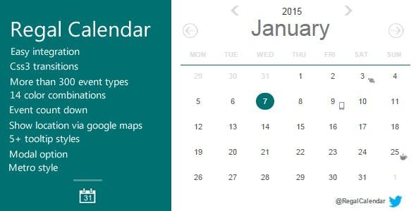 30 Best JavaScript & jQuery Calendars