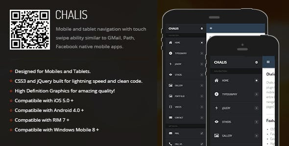 Chalis | Sidebar Menu for Mobiles & Tablets