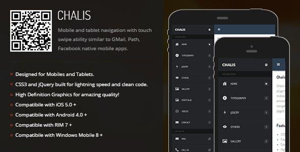 Chalis | Sidebar Menu for Mobiles & Tablets