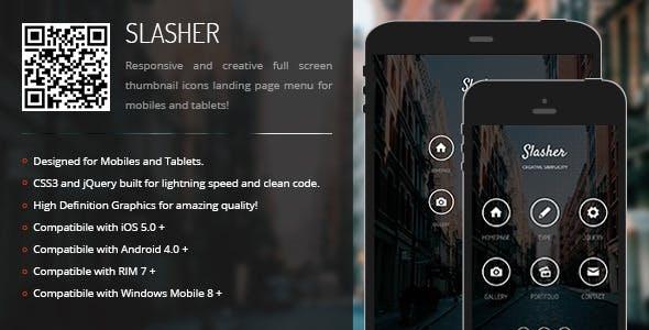 Slasher | Creative Navigation for Mobile & Tablets