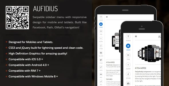 Aufidius | Sidebar Menu for Mobiles & Tablets