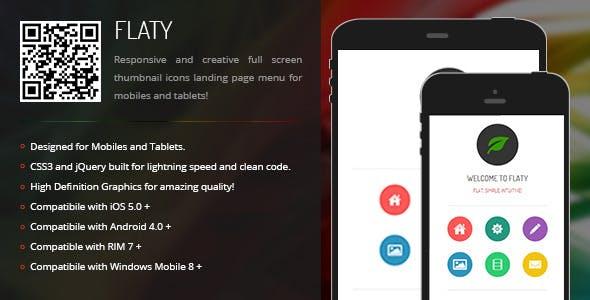 Flaty | Creative Navigation for Mobile & Tablets