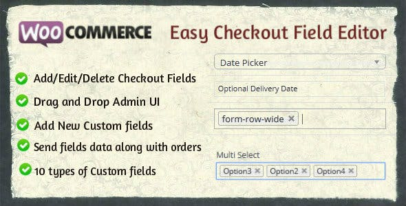 Woocommerce Easy Checkout Field Editor        Nulled