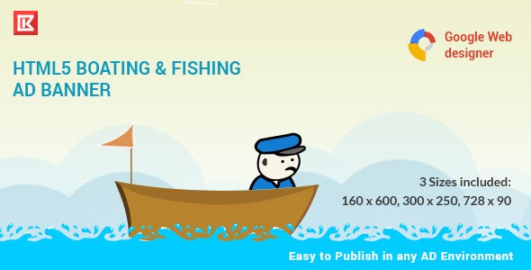Fishing and Boating   HTML 5 Animated Banner - CodeCanyon Item for Sale