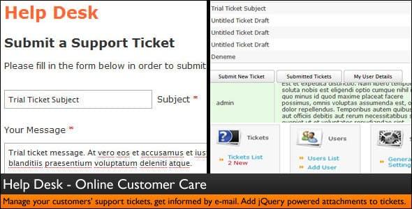 Help Desk - Customer Service - Ticket System