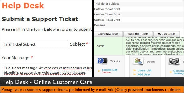 Help Desk - Customer Service - Ticket System - CodeCanyon Item for Sale