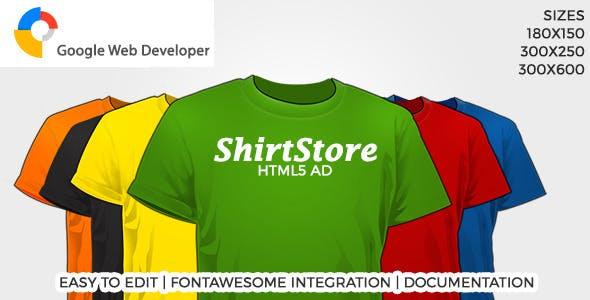 ShirtStore HTML5 Ad