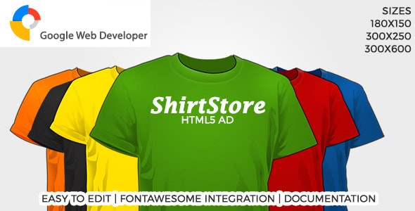 ShirtStore HTML5 Ad - CodeCanyon Item for Sale