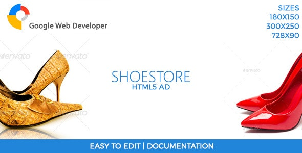 ShoeStore HTML5 Ad Template - CodeCanyon Item for Sale
