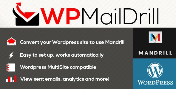 WPMailDrill - Mandrill For Wordpress - CodeCanyon Item for Sale