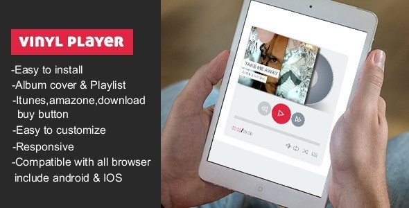 Vinyl Music Player With Playlist - CodeCanyon Item for Sale