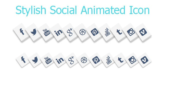Stylish Social Media Animated Icons Style - CodeCanyon Item for Sale