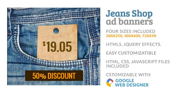 Jeans Cloth Shop GWD HTML5 Ad Banner