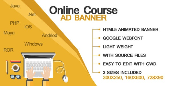 Online Course - Ad Banners - CodeCanyon Item for Sale