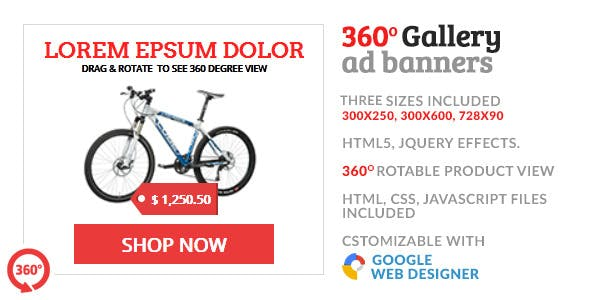 360 Gallery Product Shop GWD HTML5 Ad Banner