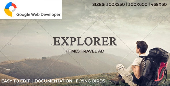 Explorer HTML5 Ad - CodeCanyon Item for Sale