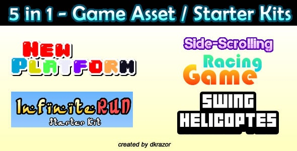 5 in 1 Starter Kit Games - HTML5 - CodeCanyon Item for Sale