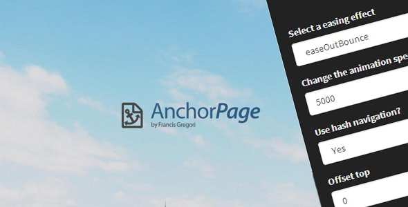 Anchor Page - CodeCanyon Item for Sale