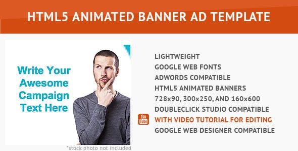 Minimalist HTML5 Animated Banner