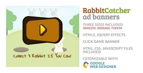 Catch The Rabbit Click Game GWD HTML5 Ad Banner