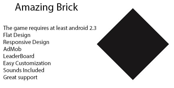Amazing Brick Template AdMob + leaderboard by 28miStudio