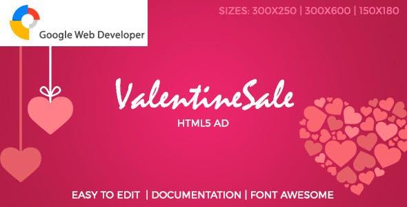 Valentine Sale HTML5 Ad