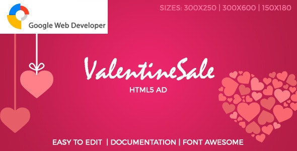 Valentine Sale HTML5 Ad - CodeCanyon Item for Sale