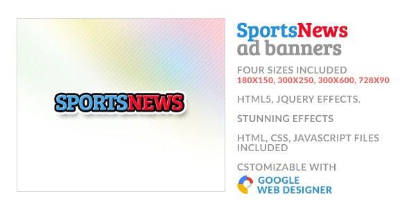Sports News GWD HTML5 Ad Banner
