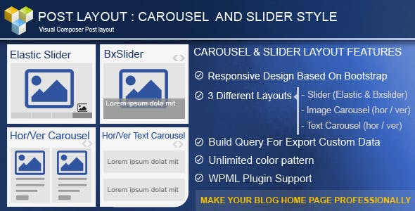 Post Layout: Carousel + Slider for Visual Composer