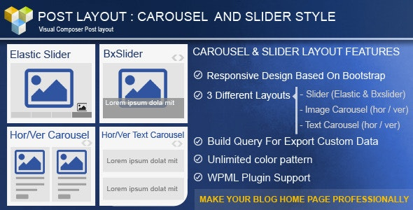 Post Layout: Carousel + Slider for Visual Composer - CodeCanyon Item for Sale