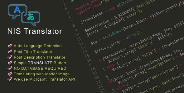 NIS Translator - CodeCanyon Item for Sale