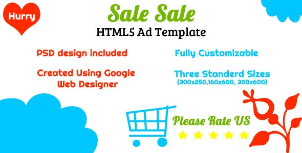 Sale - HTML5 Ad Template - CodeCanyon Item for Sale