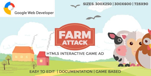 FarmAttack HTML5 Game Ad