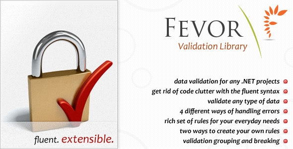 FEVOR Validation Library - CodeCanyon Item for Sale