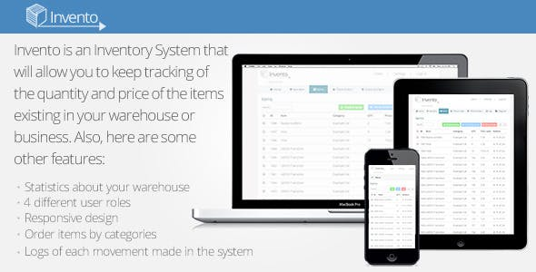 Invento - Simple Inventory Sytem
