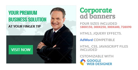 GWD - Corporate HTML5 Ad Banner  - CodeCanyon Item for Sale