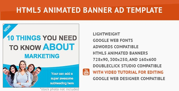 Cool Marketing HTML5 Animated Banner - CodeCanyon Item for Sale