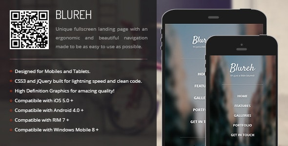 Blureh | Creative Navigation for Mobile & Tablets - CodeCanyon Item for Sale