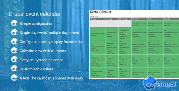 Drupal event calendar