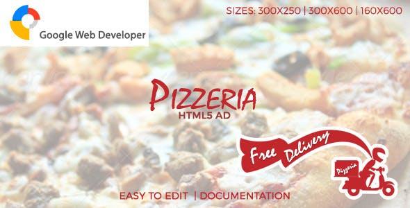 Pizzeria HTML5 Ad