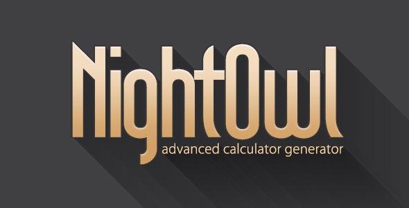 Calculator Generator: NightOwl - CodeCanyon Item for Sale