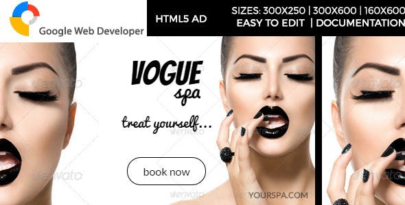 Vogue Spa - HTML5 Ad