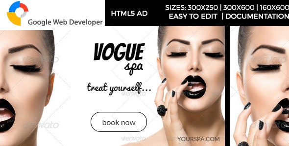 Vogue Spa - HTML5 Ad - CodeCanyon Item for Sale